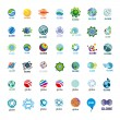 Biggest collection of vector logos Globe — Stock Vector #38023171