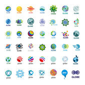 Biggest collection of vector logos Globe — Stock Vector