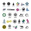 Vecteur: Collection of vector logos and fuel oil