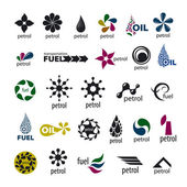 Collection of vector logos and fuel oil — Vector de stock