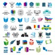 Biggest collection of vector logos books — Stock Vector