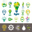 Stock Vector: Biggest collection of vector logos lamps