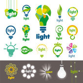 Biggest collection of vector logos lamps — Stock Vector
