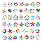 Biggest collection of vector logos Union — Stock Vector