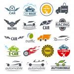 Biggest collection of vector logos Car — Stock Vector