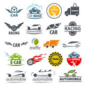 Biggest collection of vector logos Car — Stock Vector
