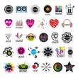 Постер, плакат: Biggest collection of vector logos music and sounds