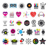 Biggest collection of vector logos music and sounds  — Stock Vector