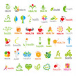 Biggest collection of vector logos health — Stock Vector #44931961
