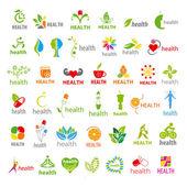 Biggest collection of vector logos health  — Stok Vektör