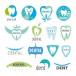 Biggest collection of vector logos dentistry — Stock Vector #45168953