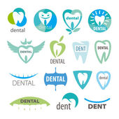 Biggest collection of vector logos dentistry — Stock Vector