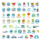Biggest collection of vector logos Travel  — Stock Vector