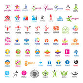 Biggest collection of vector logos people — Stock Vector