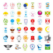 Biggest collection of vector logos time  — Stock Vector