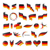 Biggest collection of vector flag of Germany  — Stock Vector