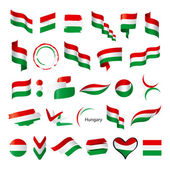 Biggest collection of vector flags of Hungary — Stock Vector