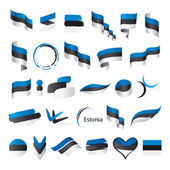 Biggest collection of vector flags of Estonia   — Stock Vector
