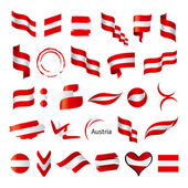 Biggest collection of vector flag of Austria   — Stock Vector