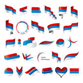 Biggest collection of vector flags of Serbia Montenegro — Stock Vector
