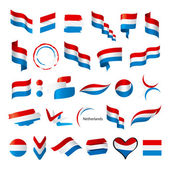 Biggest collection of vector flags of Netherlands — Stock Vector