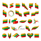 Biggest collection of vector flags of Lithuania — Stock Vector
