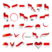 Biggest collection of vector flags of Monaco — Stock Vector