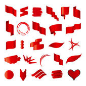 Biggest collection of vector red flags — ストックベクタ