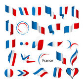 Biggest collection of vector flags of France — Stock Vector