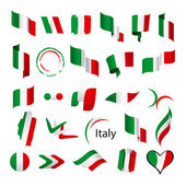 Biggest collection of vector flags of Italy — Stock Vector