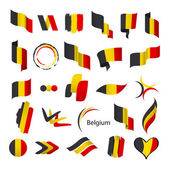 Biggest collection of vector flags of Belgium — Stock Vector