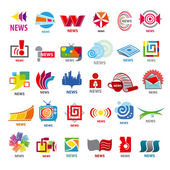 Biggest collection of vector logos news  — Stock Vector