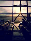 Waiting at Beijing Airport — Stock Photo