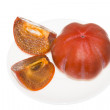 Stock Photo: Cut persimmon Fruit