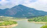 Landscape the mountain and the river in India Kerala — Stock Photo