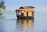 Landscape with houseboat in kerala backwaters, India — Stock Photo