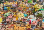 Färgglada hem indiska staden trichy, tamil nadu — Stockfoto