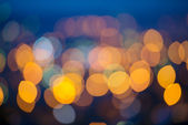 Big circular city lights bokeh background — Stock Photo