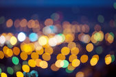 Background with blurring lights, night city — Stock Photo