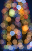 Circular lights bokeh background — Stock Photo