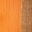 Stock Photo: Wood texture with hessian, rural style