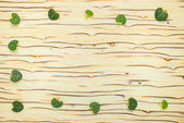 Abstract leaves Ceropegia Woodii on wood texture (ice tree) — Stock Photo