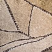 Couro de textura natural como pano de fundo, closeup — Fotografia Stock