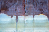 Old rusty corrosion weathered of water iron gate, background — Photo