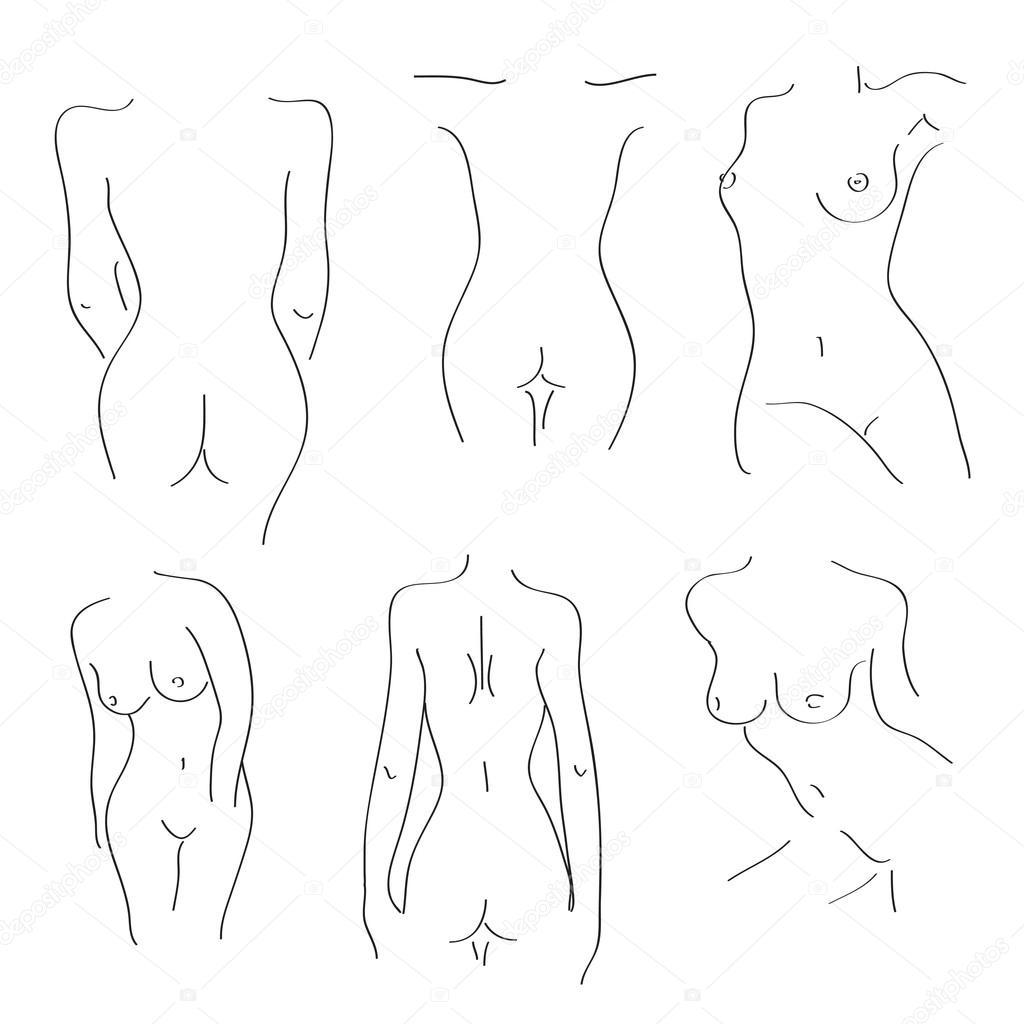 Силуэты голых девушек 25 фотография