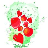 Cute ontwerp wenskaarten voor valentijnskaart — Stockvector