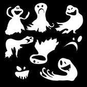 Scary.bvector papel de parede com os fantasmas do vôo — Vetorial Stock