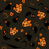 Halloween hexe spukhaus. textur — Stockvektor