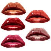 Lips Vector — Stock Vector