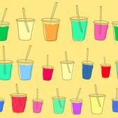 Set of vector milk shake. Isolated on white background. — Stock Vector